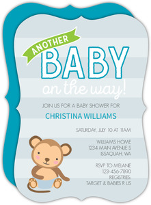 Another Monkey Baby Shower Invitation