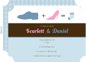 Family Shoes Baby Shower Invitation