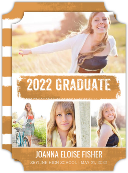 White Brushstroke Graduation Announcement