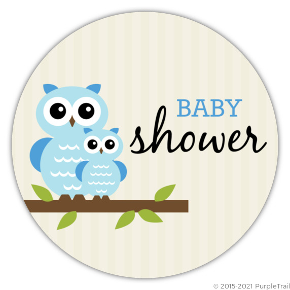 blue whimsical owls boy baby shower invitation boy baby shower
