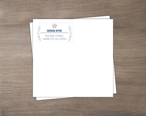King Navy Blue Envelop Design