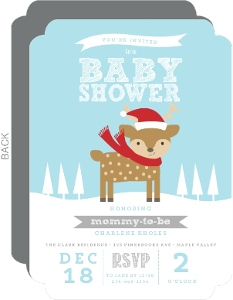 Winter Dear Baby Shower Invitation