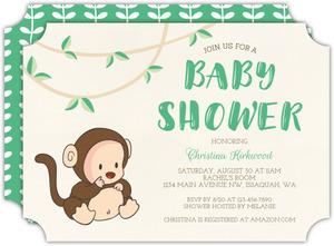 Monkey baby shower invitations monkey costume baby shower invitation filmwisefo