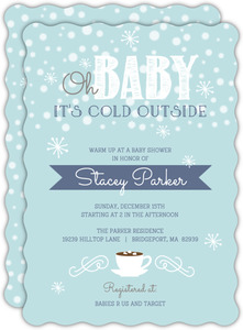 It s Cold Outside Winter Baby Shower Invitation