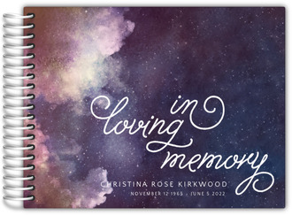 Celestial In Loving Memory Funeral Guest Book