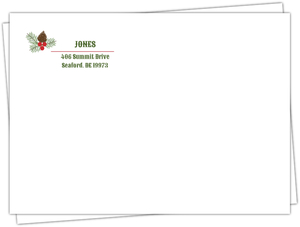 Cute Pines Custom Return Address