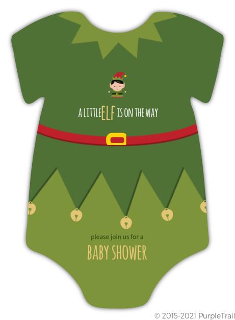 Little Elf Onesie Baby Shower Invitation