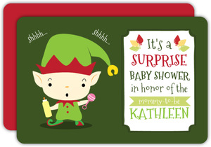 Elf Surprise Baby Shower Invitation