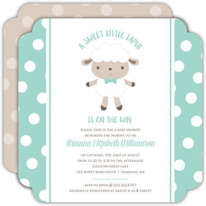 Orange and Blue Car  Baby Shower Invitation