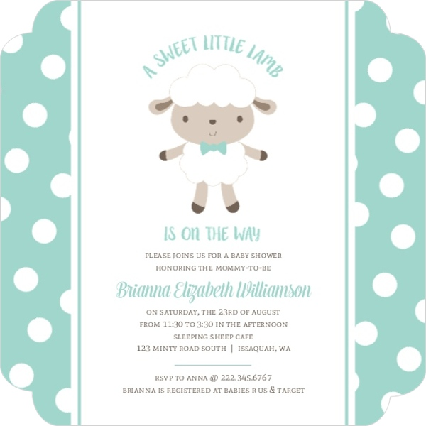 Orange And Blue Car Baby Shower Invitation