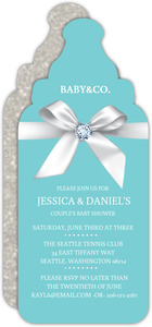 Diamonds And Bows Couples Baby Shower Invitation
