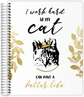 Work Hard Cat Teacher Planner