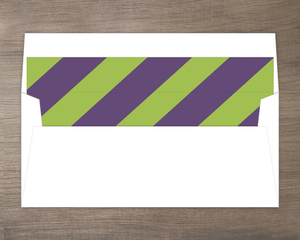 Purple and Green Striped Envelope Liner