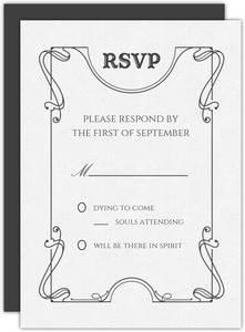 Ouija Board Wedding Response Card
