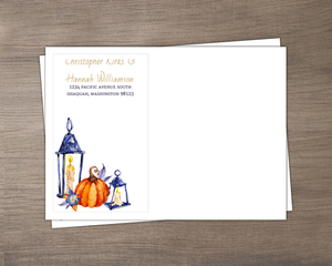 Watercolor Lantern Halloween Envelope