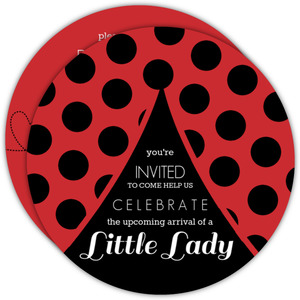Big Ladybug Baby Shower Invitation