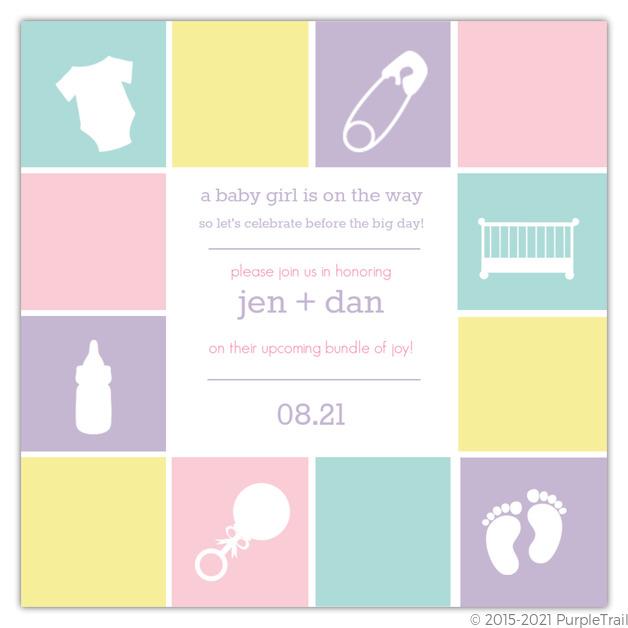 Baby blocks baby shower invitation girl baby shower invitations baby blocks baby shower invitation filmwisefo