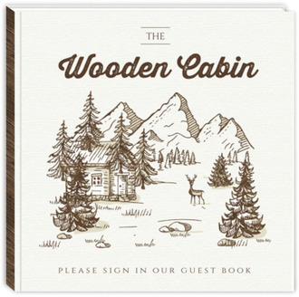 Forest Sketch Cabin Vacation Home Guest Book