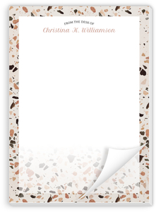Crushed Quartz Pattern Personalized Notepad