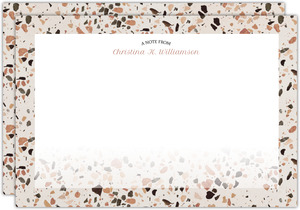 Crushed Quartz Pattern Personalized Notecard
