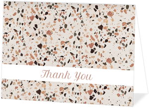 Crushed Quartz Pattern Personalized Thank You Card