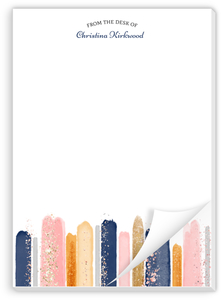 Faux Glitter Watercolor Custom Notepad