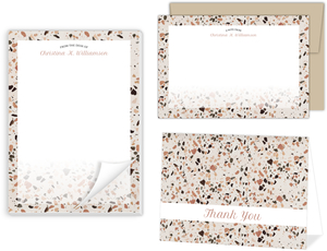 Crushed Quartz Pattern Personalized Stationery Set