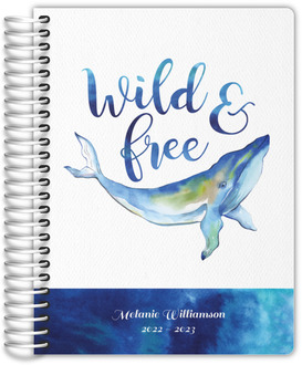Wild and Free Whale Watercolor Student Planner