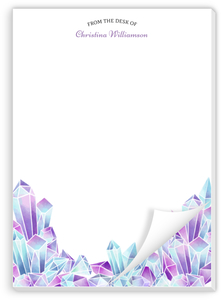 Watercolor Crystal Gems Custom Notepad