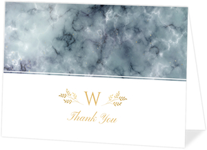 Elegant Fog Marble Personalized Thank You Card