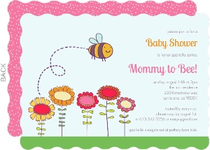 Mommy to Bee Girl Baby Shower Invite