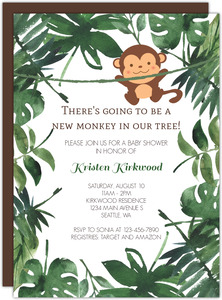 Wild Monkey Baby Shower Invitation