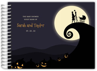 Halloween Moonlight Baby Shower Guest Book