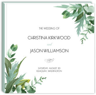 Modern Greenery Decor Wedding Guest Book