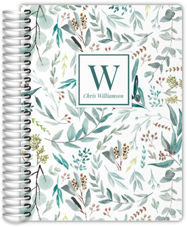 Elegant Watercolor Foliage Pattern Address Book