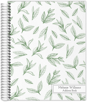 Green Tea Leaves Address Book