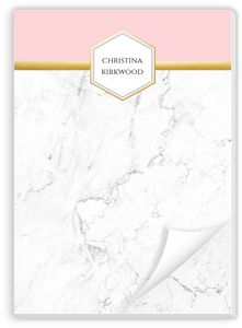 Faux Foil Marble Custom Notepad
