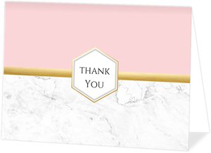 Faux Foil Marble Thank You Card