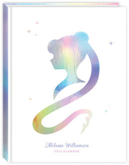 Faux Iridescent Foil Silhouette Student Planner
