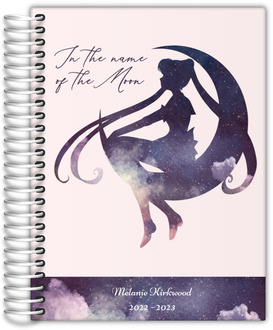 Watercolor Moon Silhouette Quote Daily Planner