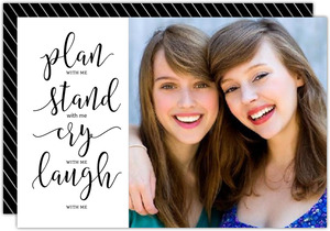Plan Stand Cry Laugh Will You Be My Bridesmaid Card