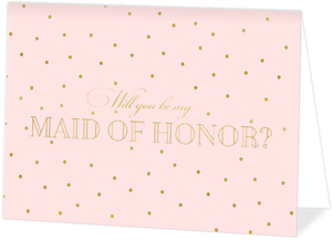 Classic Blush Will You Be My Maid of Honor Card