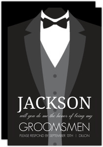 Classic Tuxedo Will You Be My Groomsmen Card