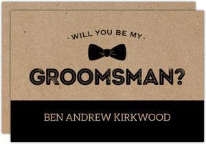 Rustic & Kraft Will You Be My Groomsman Card