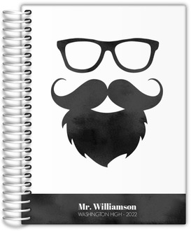 Watercolor Mustache Teacher Planner