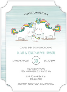 Unicorn Family Baby Shower Invitation