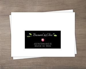 Bright Florals And Black Striped Mailing Address Envelope