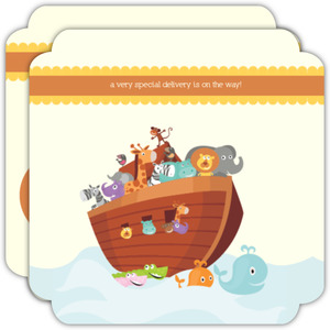 Noah S Ark Gender Neutral Baby Shower Invitation