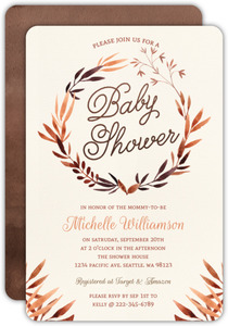 Autumn Foliage Baby Shower Invitation