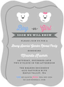 Winter Wonderland Gender Reveal Baby Shower Invitation